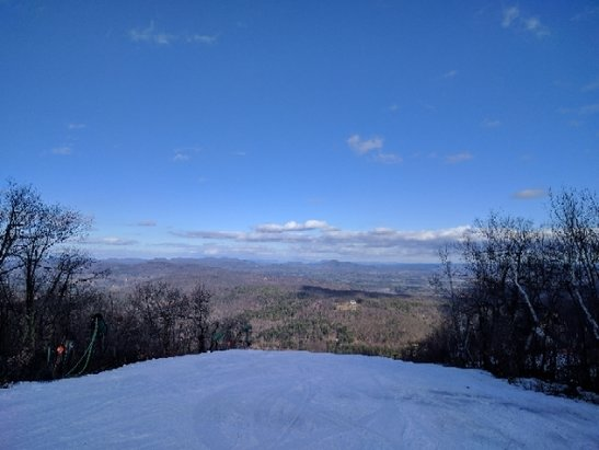 Catamount - all trails that are opened are flat with no bumps. slicing through the snow is extremely easy. - ©yellow jacket