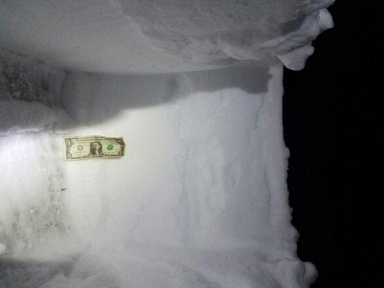Sugarloaf - close to 2 feet of snow last night - ©Levi