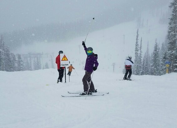 Winter Park Resort - Wifey loving the amazing fresh powder.  - ©sf82
