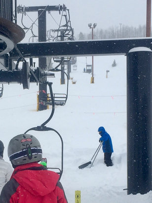 Ski Granby Ranch - Conditions were great today. Fresh snow and short lines. - ©Rocky's iPhone