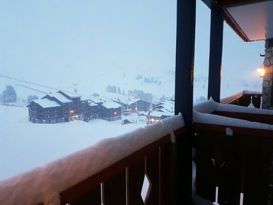 La Plagne - still snowing in belle plagne! - ©sarah