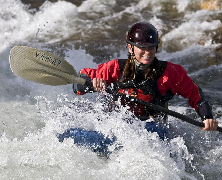 Boater at Breckenridge kayak park - Carl Scofield