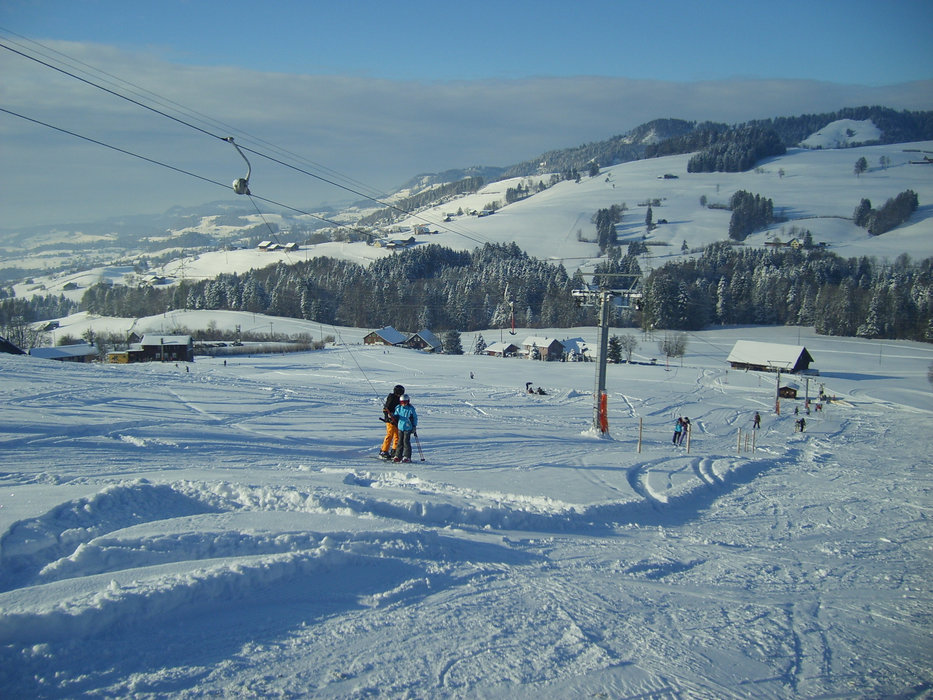 Wunderbare Aussichten im Skigebiet Skilift Bildhaus - ©Skilift Bildhaus