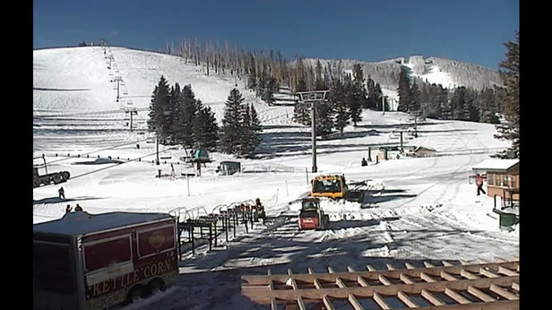 Ski Apache - Got snow last night, about 6