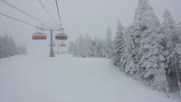 Okemo Mountain Resort - What a turn-around from Sunday. Tuesday was a blast. It's amazing what 6
