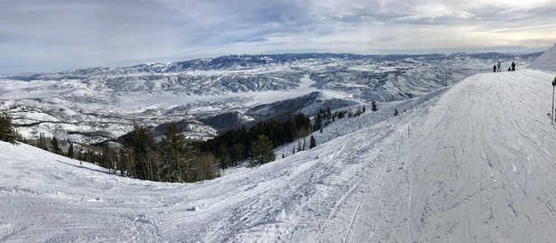Deer Valley Resort - Bluebird days all last weekend.   - ©Scott Reidenbach's iPhon