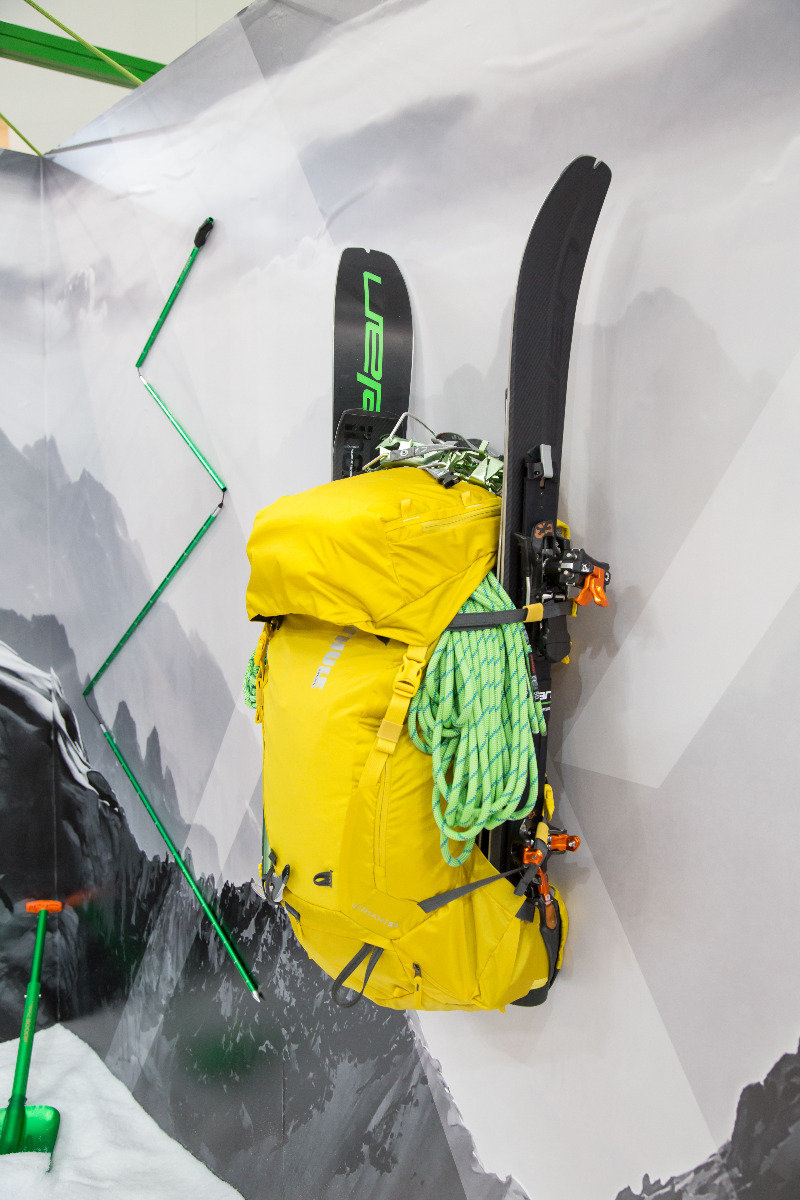 Elan zeigte auf der ispo für Alpinisten einen zusammenklappbaren Ski - ©Skiinfo