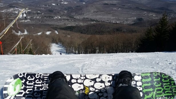 Belleayre - Very good base. 100% open. Get on the groomers early. The snow gets soft and sticky with the warm afternoon weather. Stick to the steeper trails after it gets sticky. Dot nebel for my trail of the day.  - ©jbuckley31981