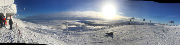 Åre - Great day in Are - stunning views from Areskutan. Fabulous conditions after recent snowfall. - ©Martin Wadley's iPhone