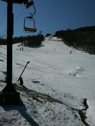 Beech Mountain Resort - Some runs were not open! Lack of snow and