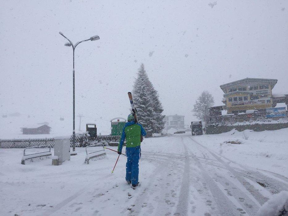 Viel Neuschnee im Zillertal am Morgen des 07. März - ©Facebook Zillertal Arena