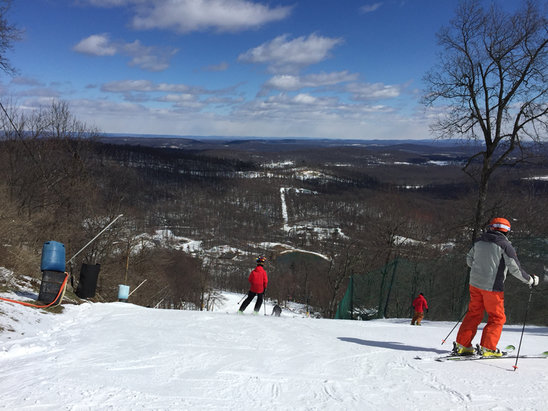 Roundtop Mountain Resort - Was there today. 75% of trails are open and I suspect they will be back at 100% by Monday.   - ©Bward's iPad