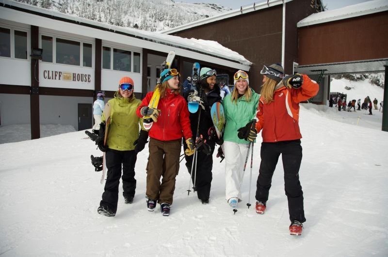 A group of women at Stowe Mountain Resort, Vermont