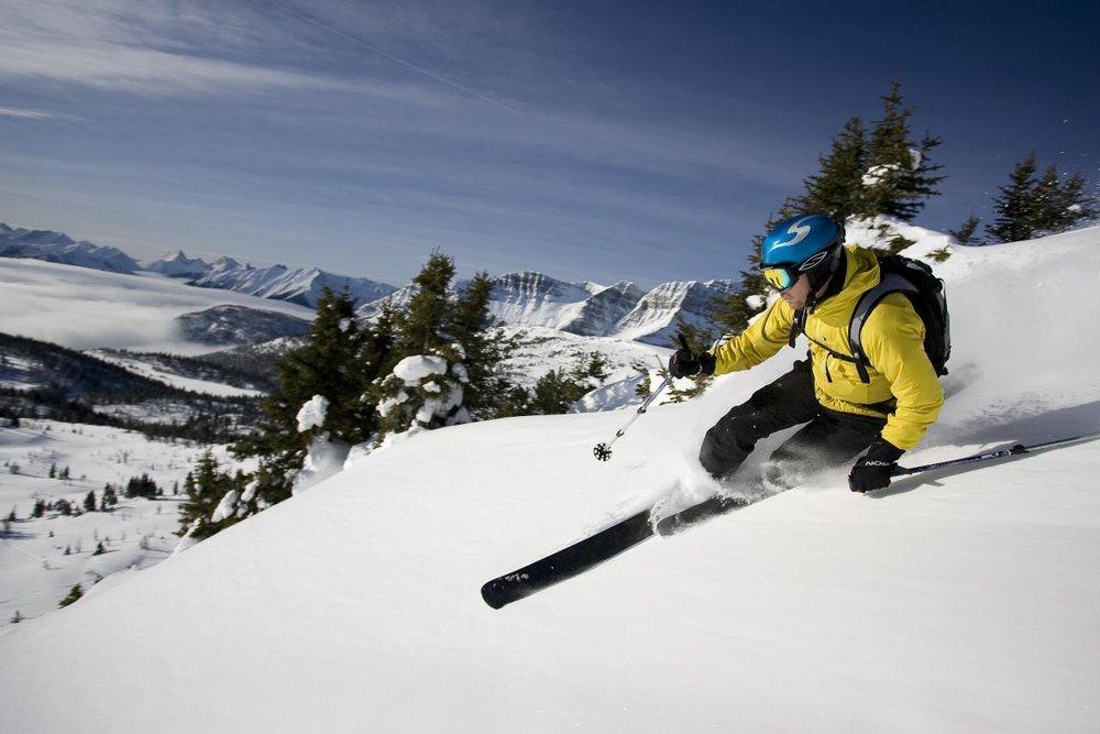 Skier on slope at Sunshine Village