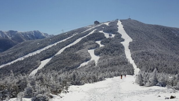 Cannon Mountain - great day with midwinter conditions in the morning and spring conditions after lunch - ©cg