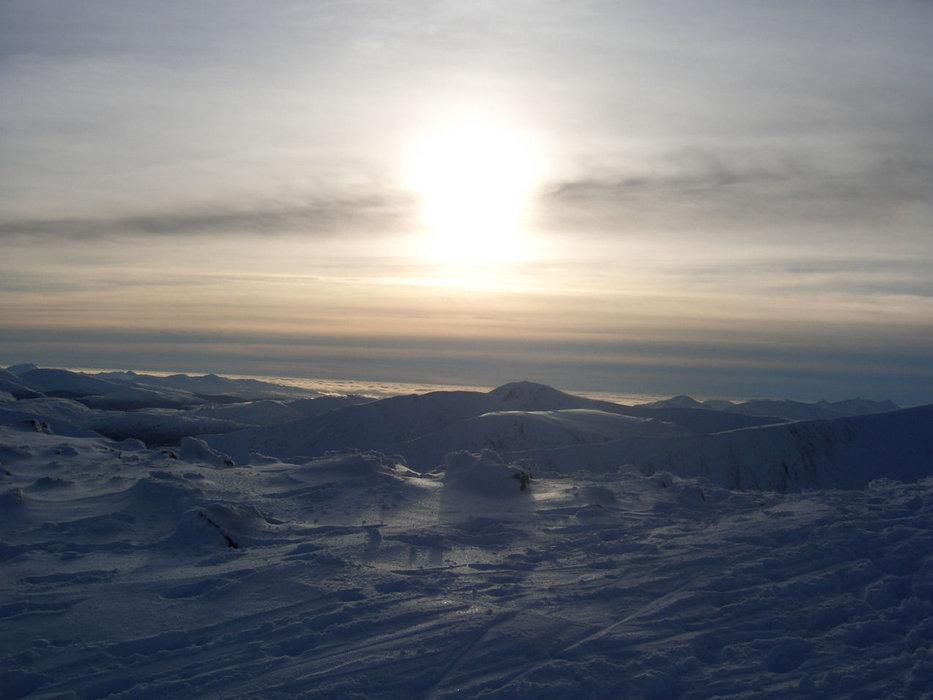 Sunset as seen from Glencoe, Scotland. (Glencoe Mountain Ltd)