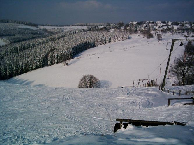 Looking down the slopes of Altastenberg, Germany.