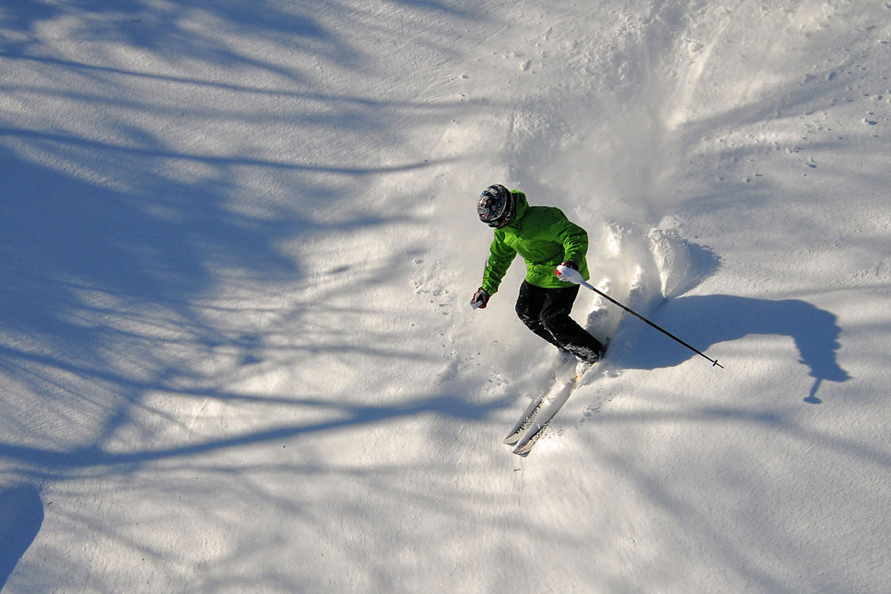 Downhill Skier at King Pine, New Hampshire