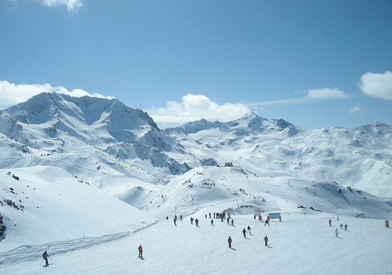 Skifahren Les Menuires 2012