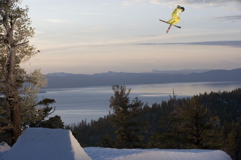 Brent Abrams gets air above Heavenly Mountain Resort in South Lake Tahoe, California