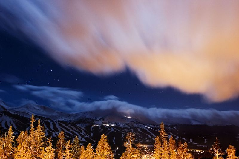 A view of the night sky in Breckenridge, Colorado