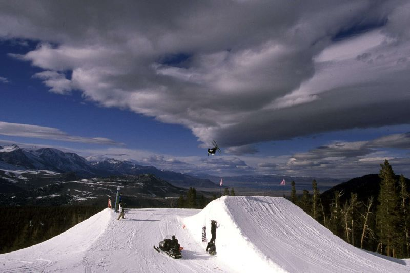 Terrain park, Mammoth Mountain, California
