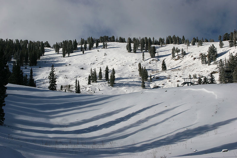A view of the slopes in Solitude, Utah