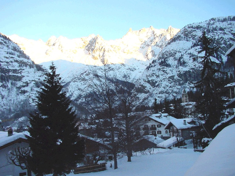 The snowy town of Courmayeur, ITA.