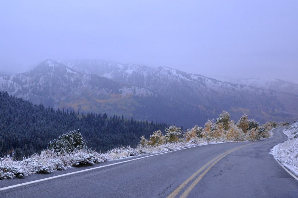 September 25th snow at Solitude, Utah