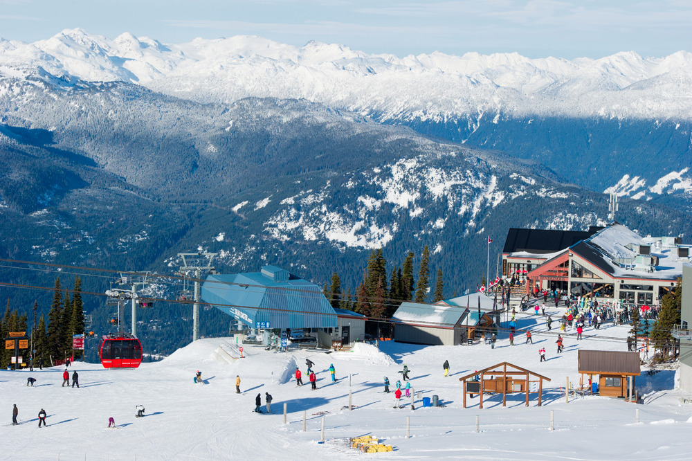 Views from Blackcomb Mountain span the PEAK2PEAK gondola and the Rendezvous Restaurant. Photo by Mike Crane. Courtesy of Tourism Whistler. - ©Mike Crane/Tourism Whistler
