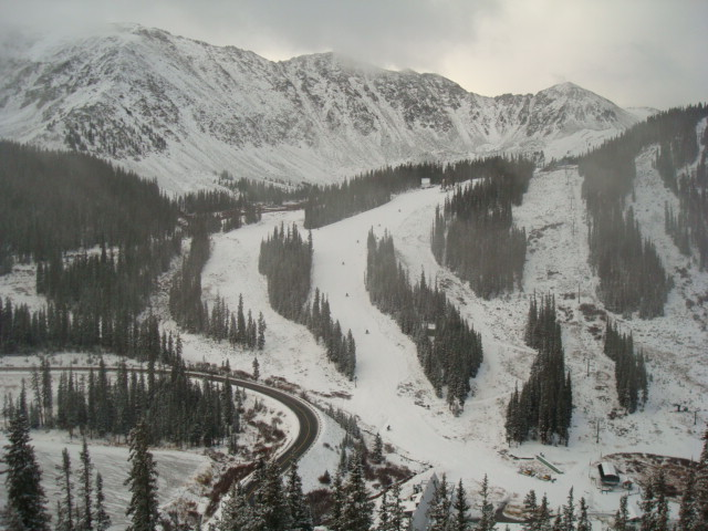 Snow filling in at A-Basin.