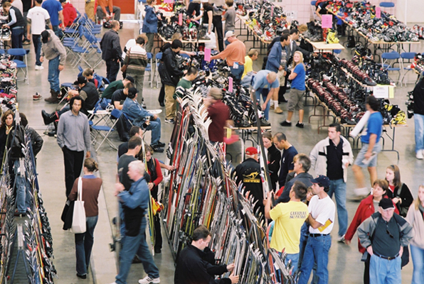 Gear deals are available at the Calgary Snow Show. Photo courtesy of CanWest Productions.