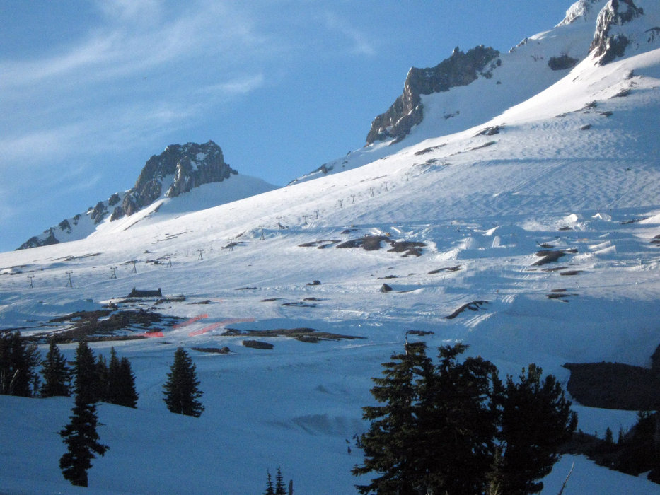Timberline Lodge offers summer and fall skiing on Palmer Snowfield. Photo by Smitha/Flickr.