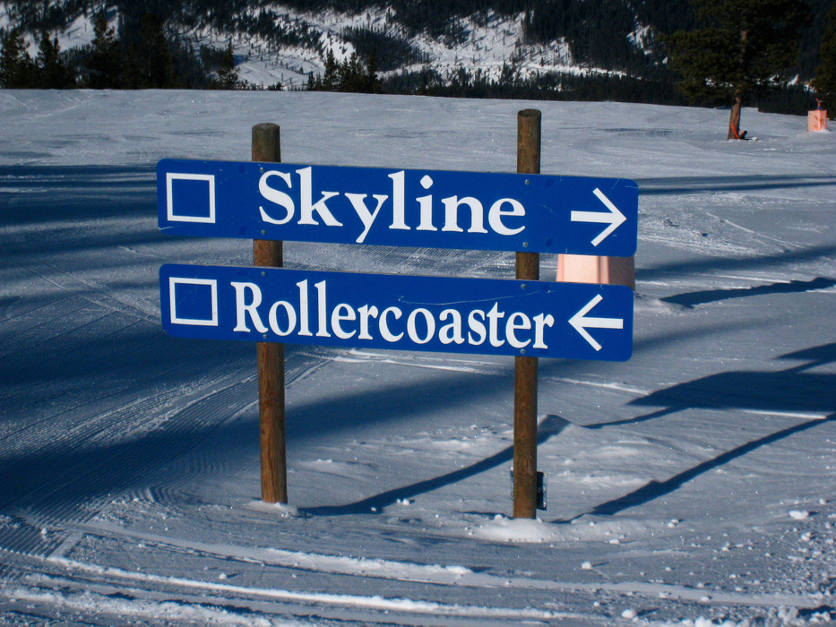 Skyline and Rollercoaster are buffed groomers at Panorama Mountain Village. Photo by Becky Lomax. - ©Becky Lomax