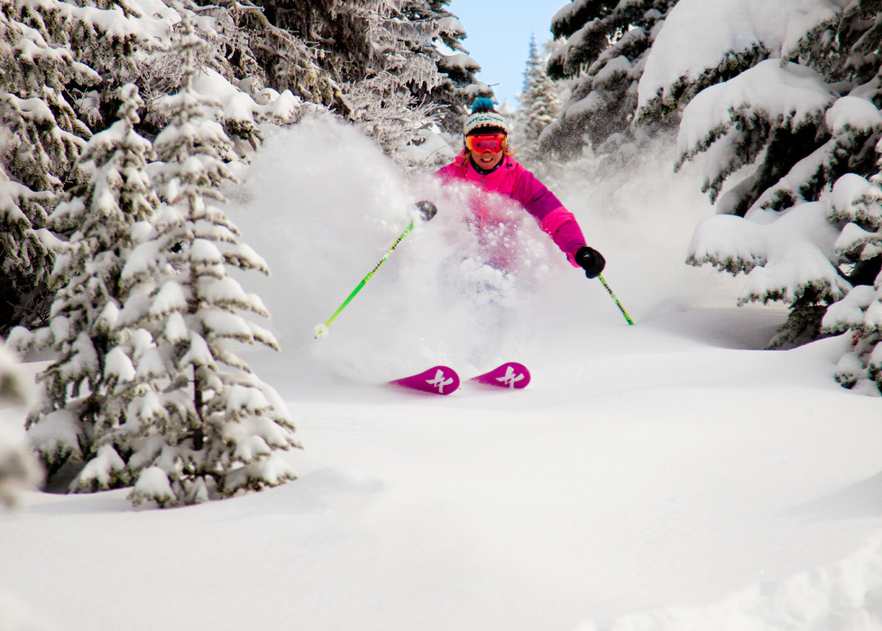 Powder at Big White. Photo by Kieran Barrett, courtesy of Big White Resort.