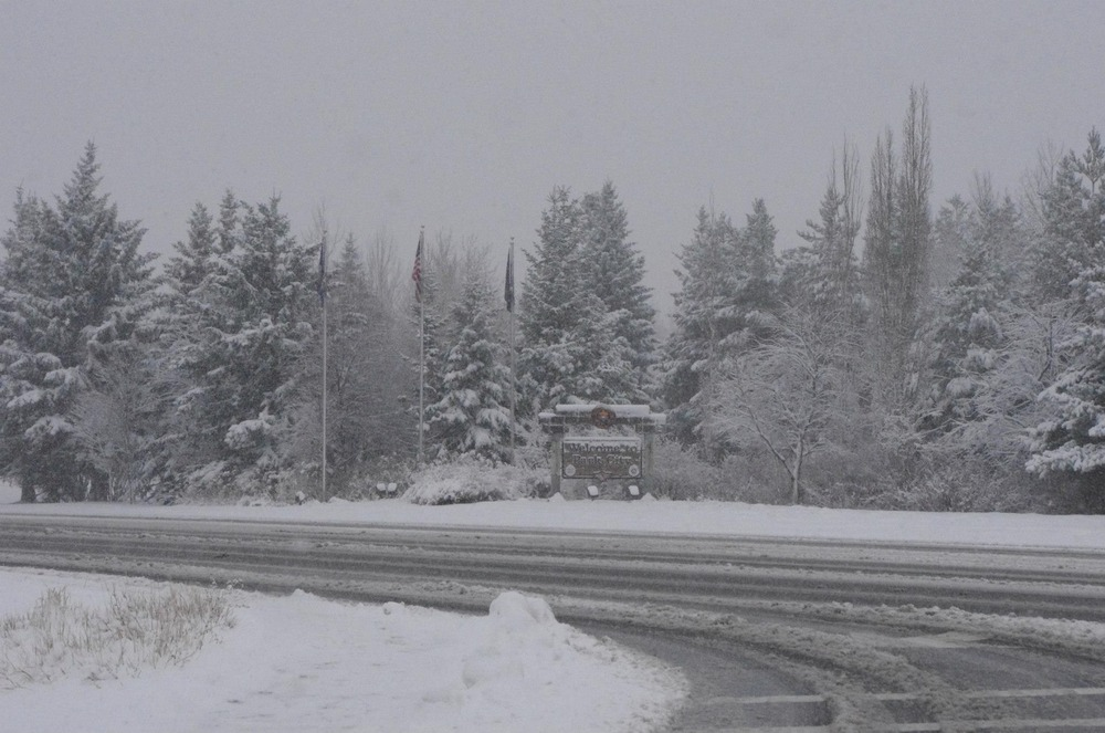 Snow on the access road to Park City from Winter Storm Brutus. Photo: Park City Mountain Resort/Facebook