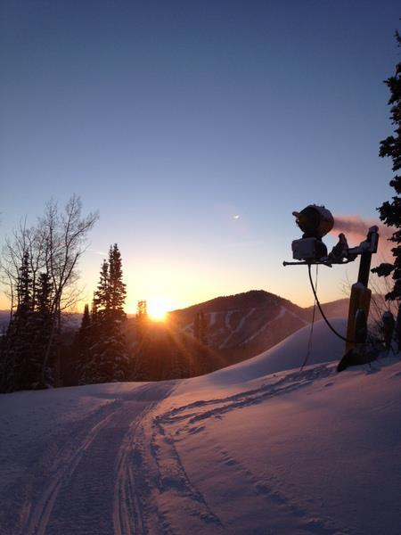 Sunrise over the snow from Winter Storm Brutus at Canyons Resort. Photo:Canyons/Facebook