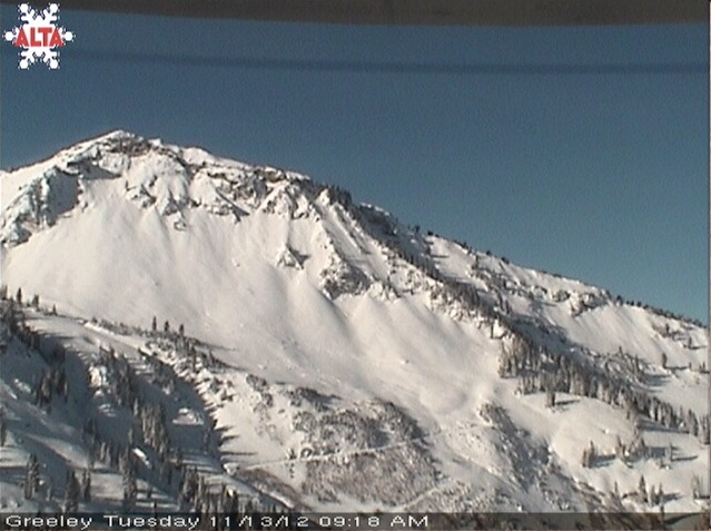 Alta's East Greeley Cam shows they're ready to open on Nov. 16. - ©Alta