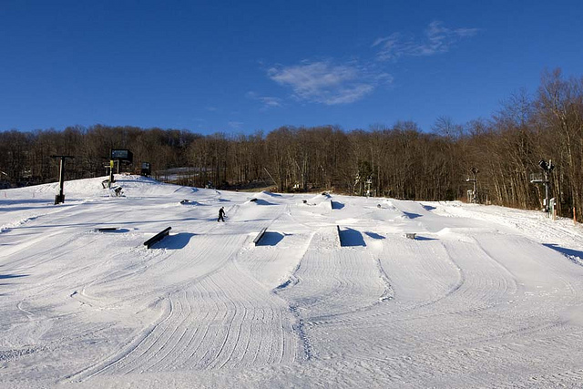 Mount Snow rails