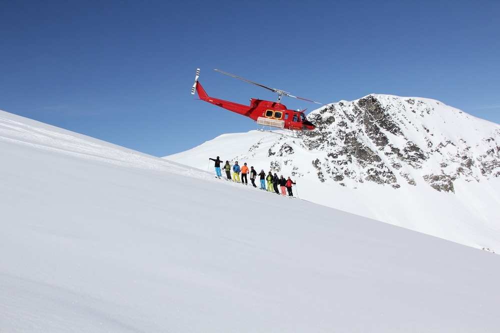 The chopper provides endless terrain at Whistler Heli-Skiing - ©Darryl Brennan