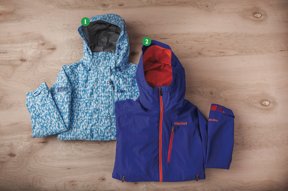 Women's Shells: 1) Outdoor Research Igneo Jacket; 2) Marmot Freerider