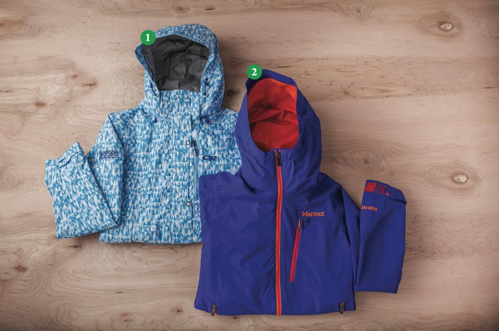 Women's Shells: 1) Outdoor Research Igneo Jacket; 2) Marmot Freerider