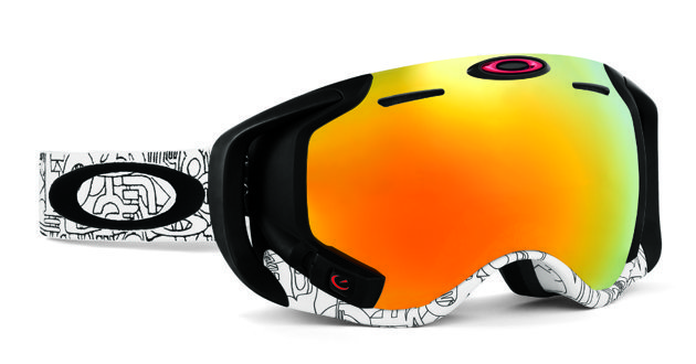 Oakley Airwave Goggle—The new Oakley Airwave integrates Recon Instruments' MOD Live technology to display data like jump analytics, vertical, speed, altitude and GPS coordinates on a virtual 14-inch screen that appears five feet away via a special display in the goggle. Connect your Bluetooth phone to the Airwave and view incoming call and texts and manage music playlists via the glove-friendly wireless remote. The Airwave's lenses also live up to the Oakley name. $600 - ©Oakley