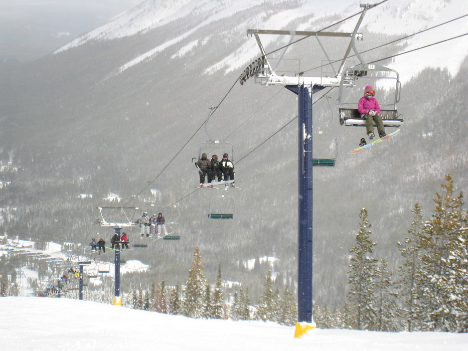 Huckleberry Chairlift on Castle Mountain. Photo by Becky Lomax