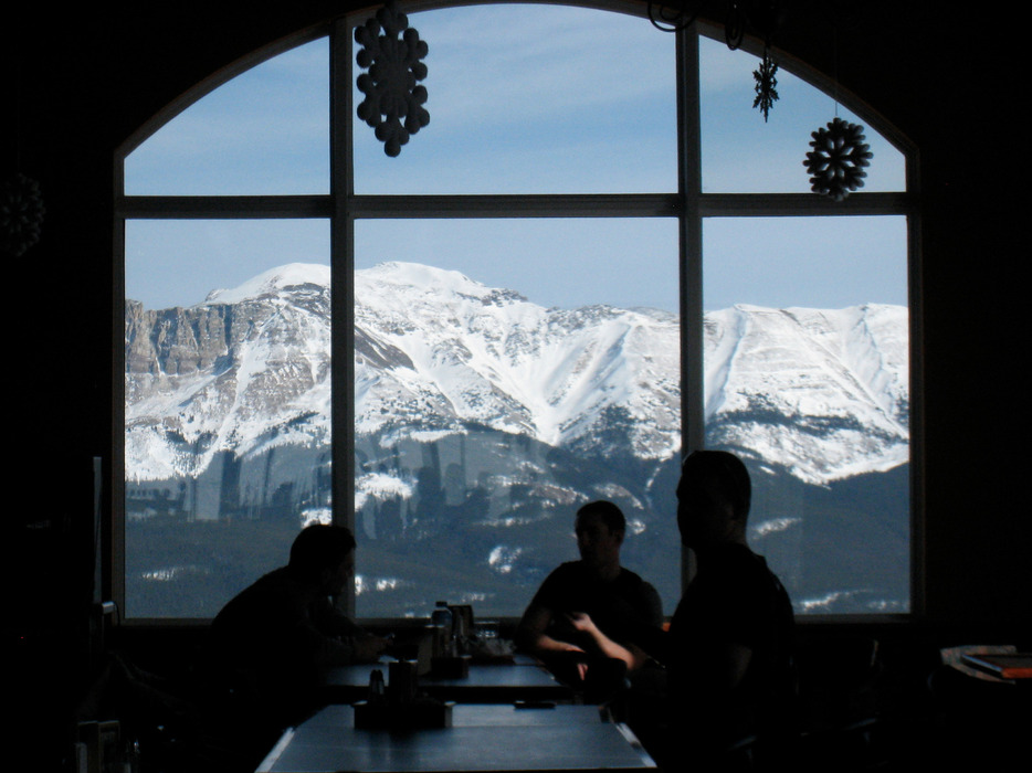 Views of Jasper National Park from Marmot Basin Lodge. Photo by Becky Lomax.