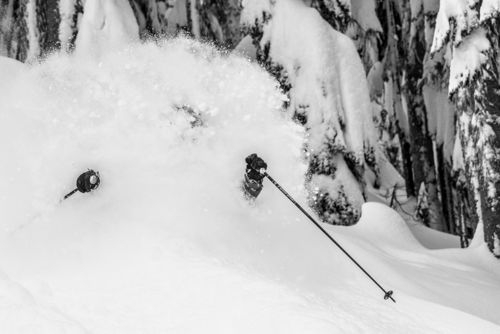 Just another bottomless powder run. Skier: Chris Shalbot - ©Liam Doran
