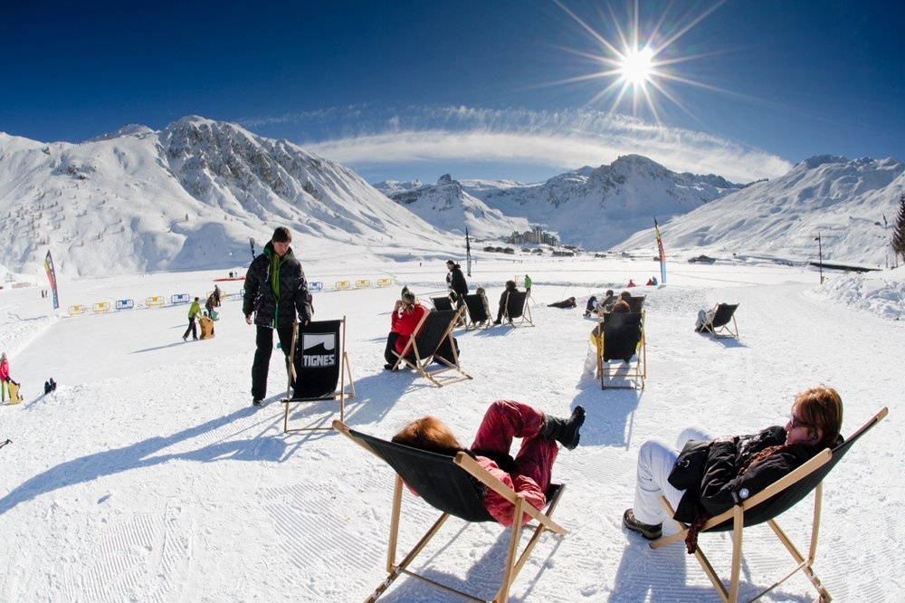 Sunny Tignes in springtime - ©Tignes Tourist Office