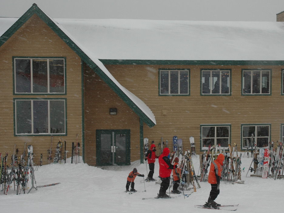 Blacktail Mountain's lodge sits at the summit where skiing starts. Photo by Becky Lomax. - ©Becky Lomax