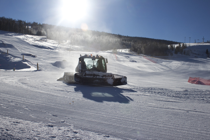 Grooming at Ski Granby Ranch.