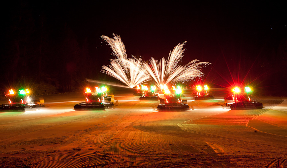 Night of Lights at Mammoth Mountain features fireworks with a spectacular background